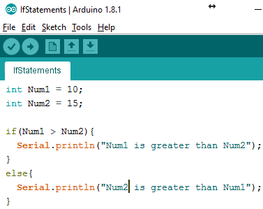 Arduino IDE if-else-if Statement