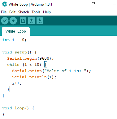 Arduino IDE while Loop