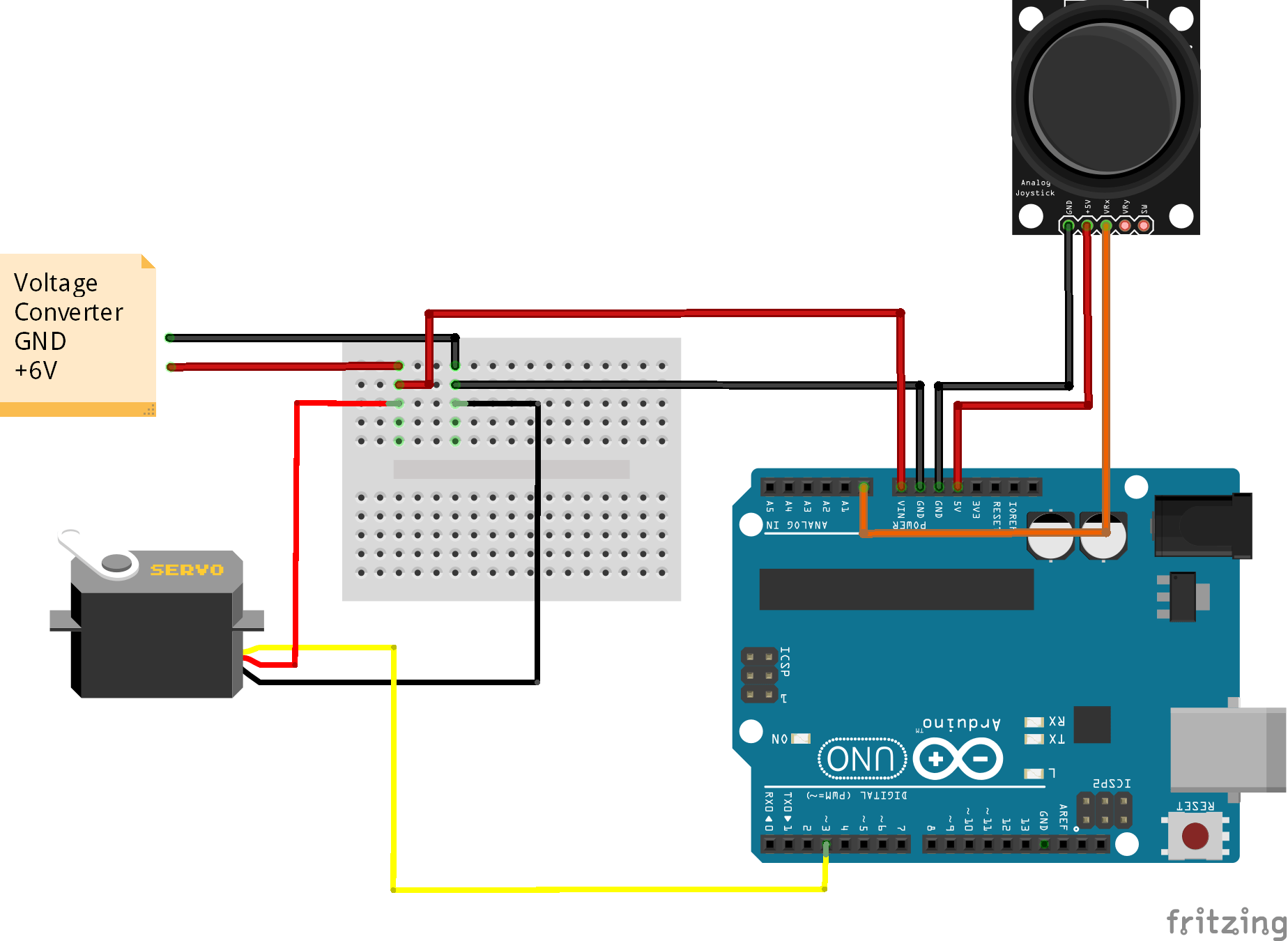Controlling Servo Angle using Joystick in Arduino IDE