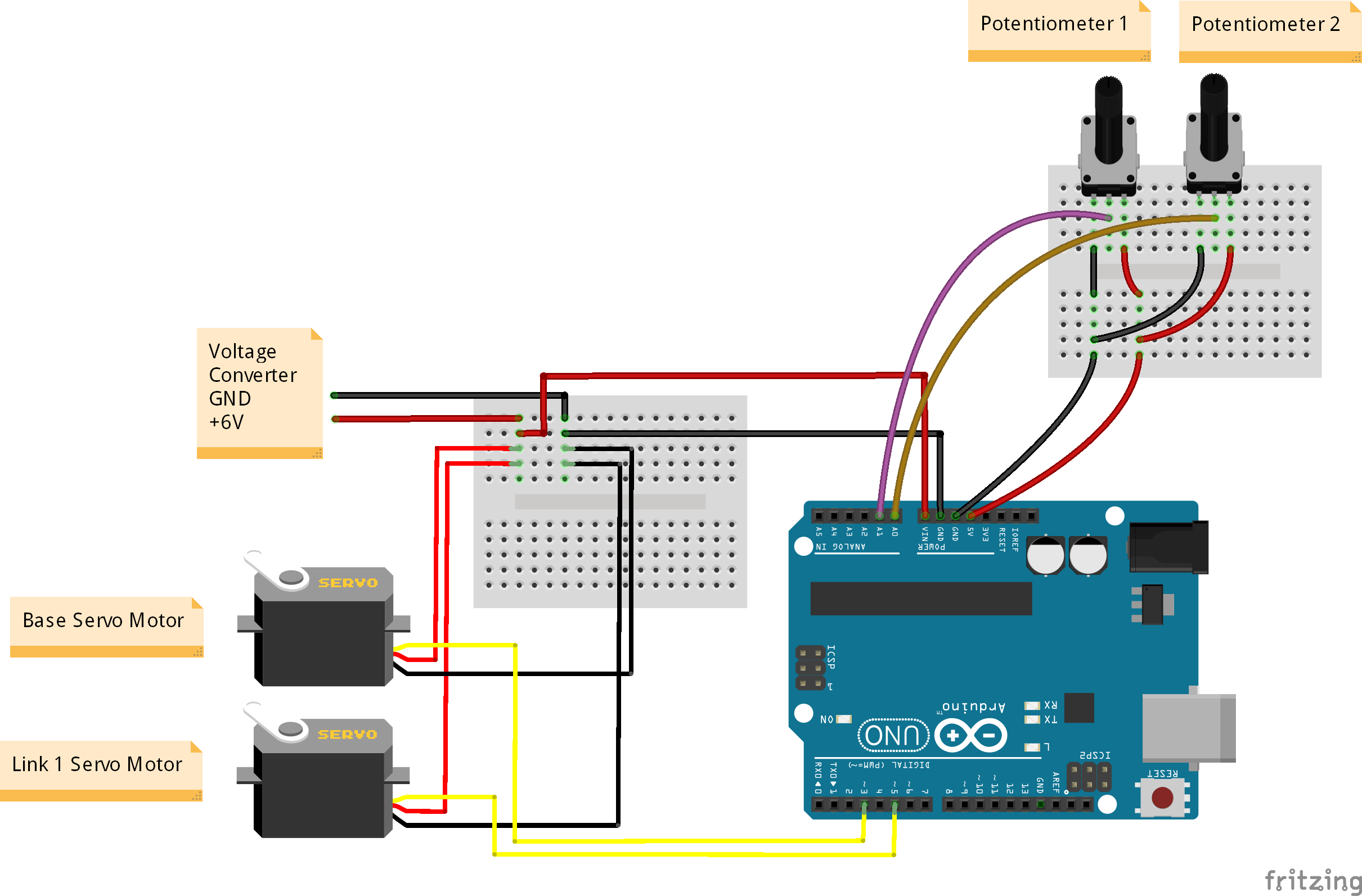 Servo Wiring Schematic Library Motor Diagram Robotic Arm With Two Motors Stempedia Robot Arduino
