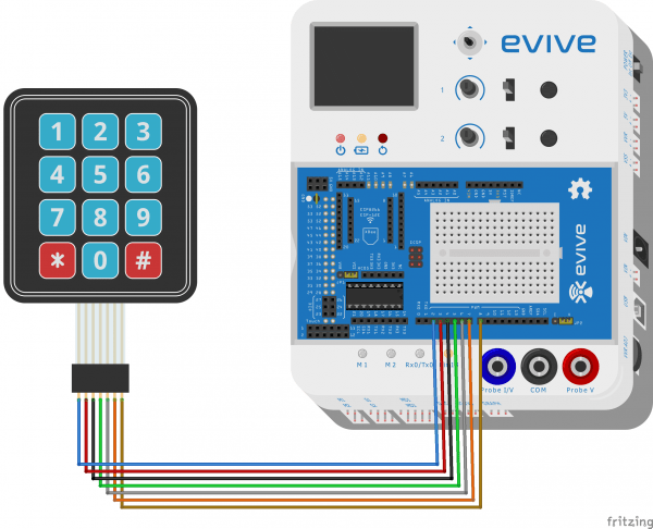 interfacinng keypad with evive