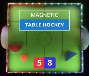 DIY Magnetic Table Hockey With RGB Lights and Sensors