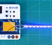 How to interface RGB LED strip with evive using scratch