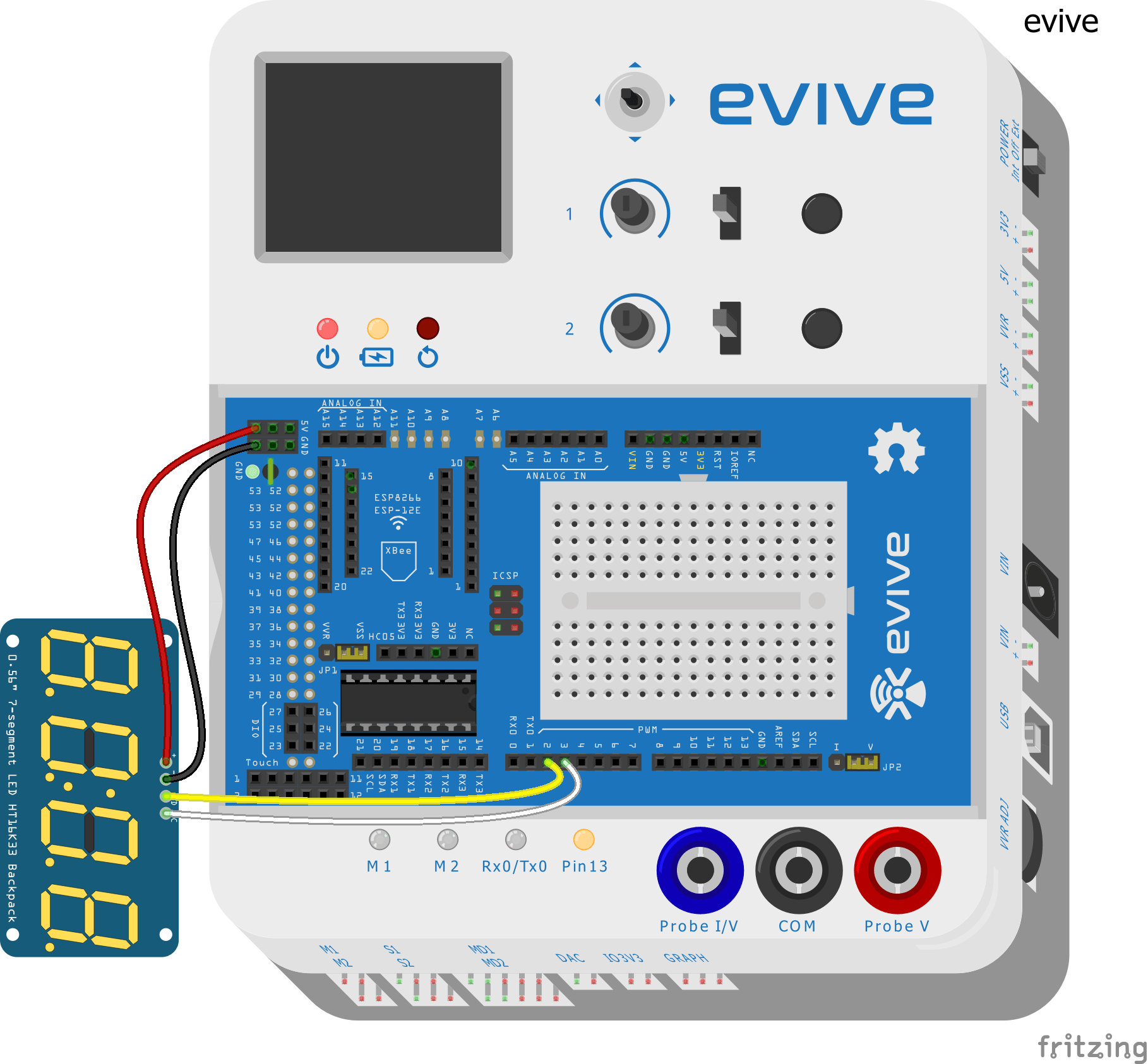 Making Digital Clock Using Tm1637 4 Digit Display Stempedia Wiring Diagram Of Electronic Connect Dio Modue To Pin Number 3 Evivewhite Wire In Circuit Gien Below