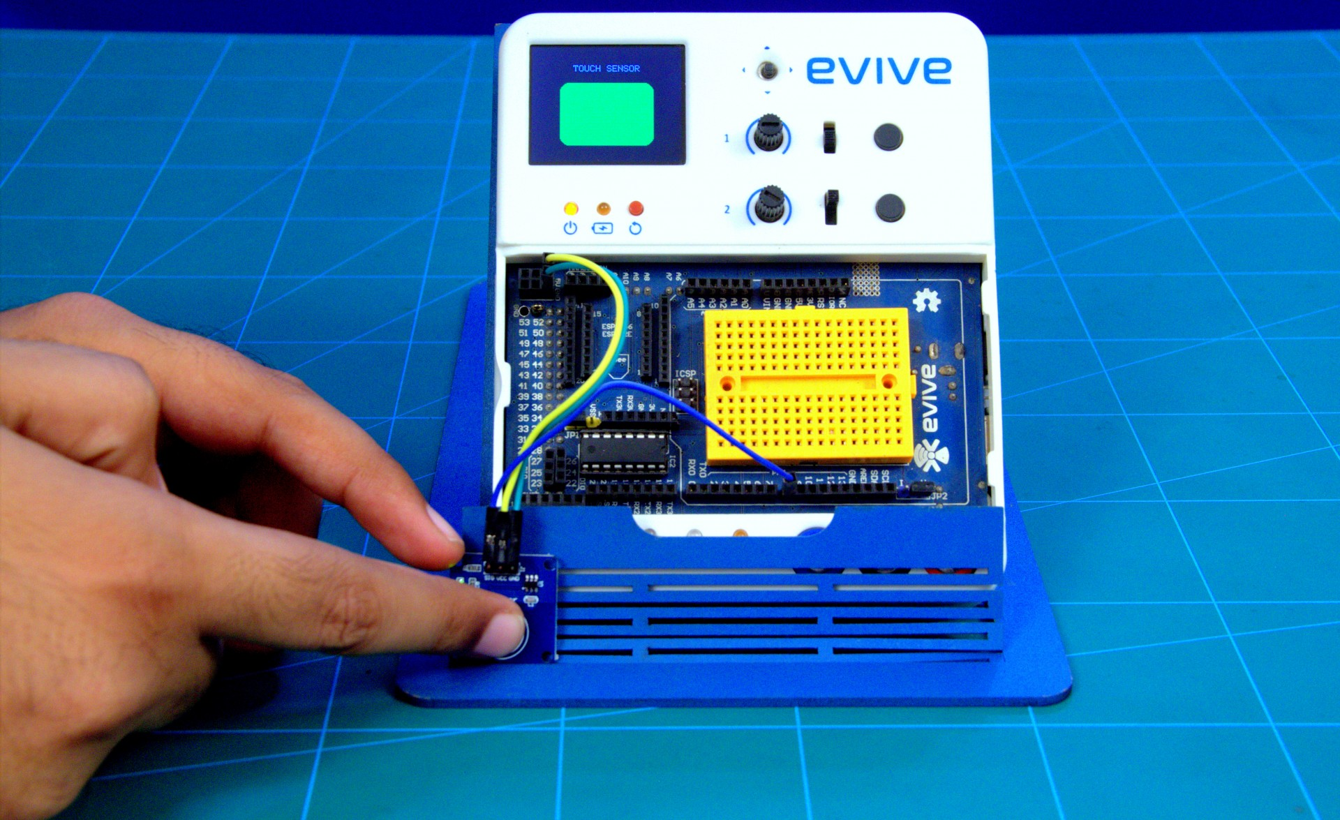 Interfacing Digital Capacitive Touch Switch Module With Evive About Sensor Circuit Arduino Code