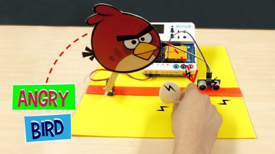 Angry Bird: Control Servo using Ultrasonic Sensor