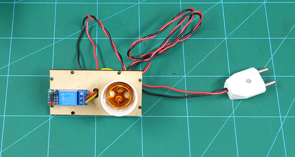 Attach relay for the Home Automation project