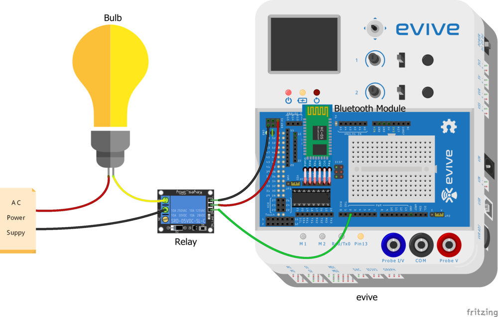 Cicuit Disgram for Voice Controlled Home Automation