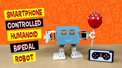 Smartphone-Controlled-Bipedal-robot