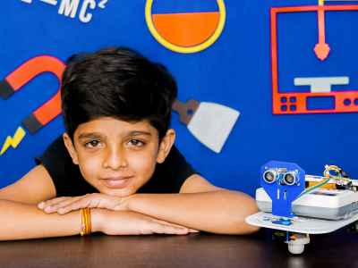 Child with Obstacle Avoidance Robot